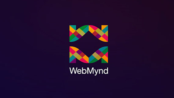 Logo design process of webmynd
