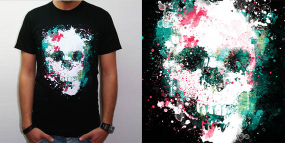 Paint-la-skull-cool-creative-tshirt-designs