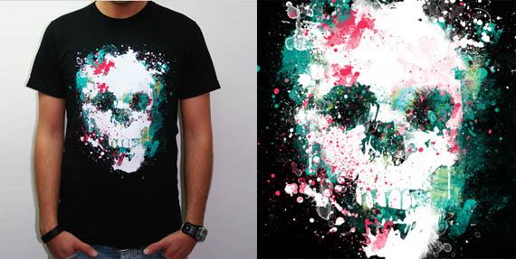 Paint-la-skull-cool-creative-tshirt-designs