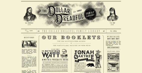 dollar-dreadful-family-library-collection-of-best-hand-picked-retro designs