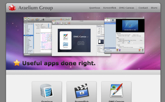 Araelium-group-apple-inspired-website-designs