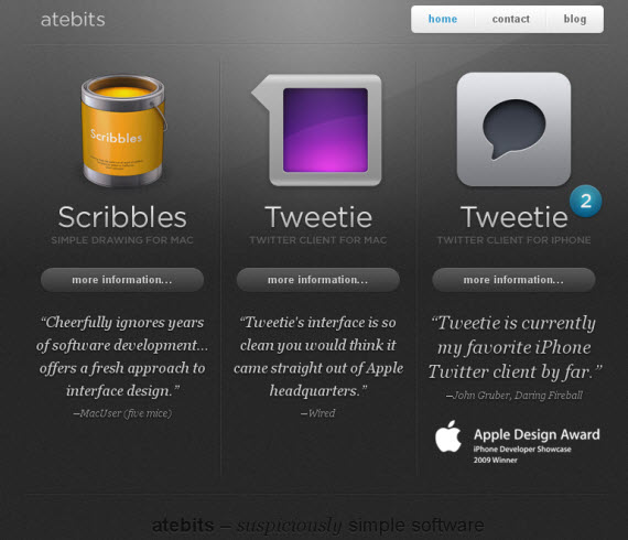Atebits-apple-inspired-website-designs