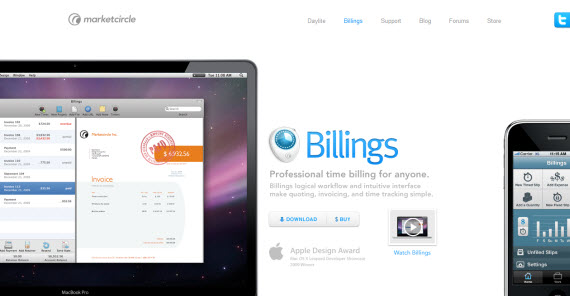 Billings-app-apple-inspired-website-designs