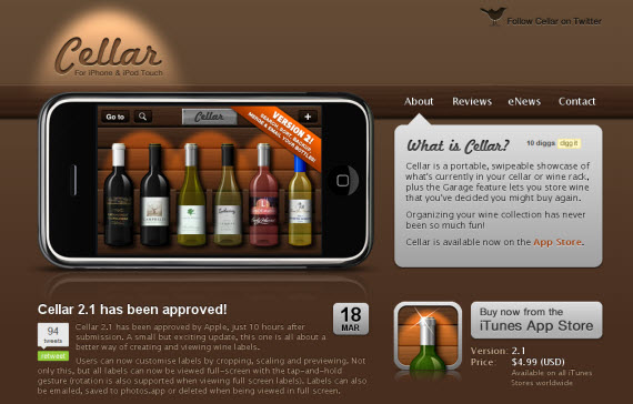 Cellar-apple-inspired-website-designs