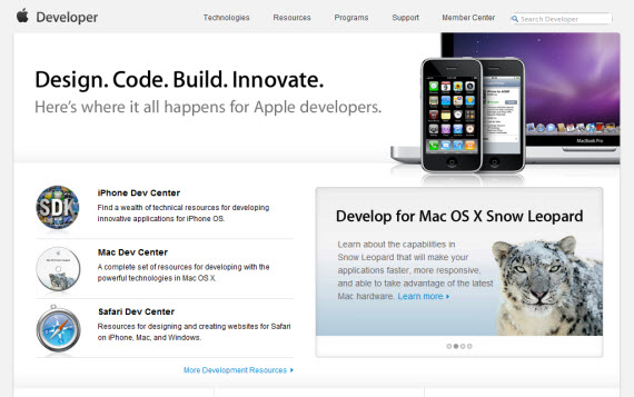 Developer-apple-inspired-website-designs