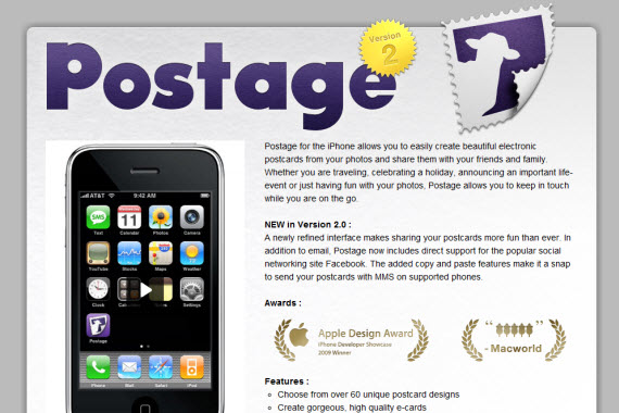 Postage-apple-inspired-website-designs