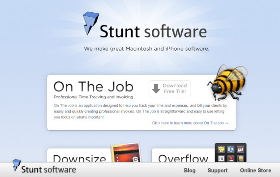 Stunt-software-apple-inspired-website-designs