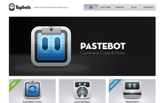 Tapbots-robots-apple-inspired-website-designs
