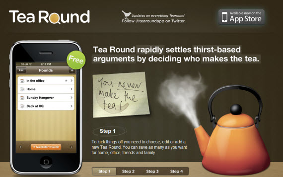 Tea-round-apple-inspired-website-designs