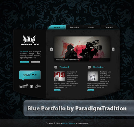 Blue-portfolio-web-design-deviantart-inspiration