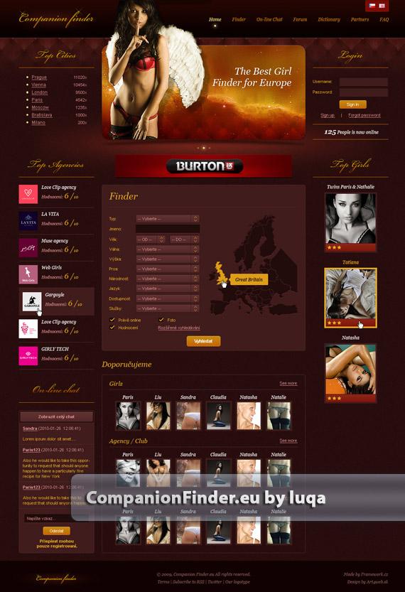 Companion-finder-web-design-deviantart-inspiration