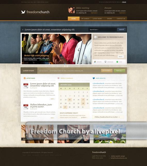 Freedom-church-web-design-deviantart-inspiration