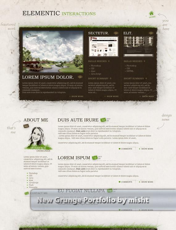 Grunge-portfolio-web-design-deviantart-inspiration
