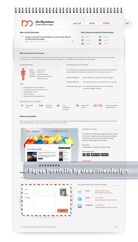 Paper-portfolio-web-design-deviantart-inspiration