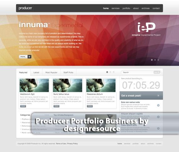 Producer-portfolio-business-web-design-deviantart-inspiration