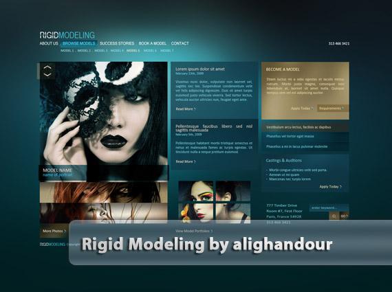 Rigid-modeling-web-design-deviantart-inspiration