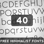 40 Free Minimalist And High Quality Fonts