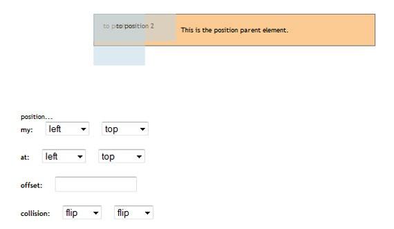 jQuery UI 1.8 Position Demo 1