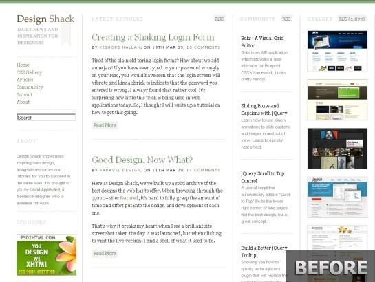 Designshack.co.uk-snapshot-redesign-process-before