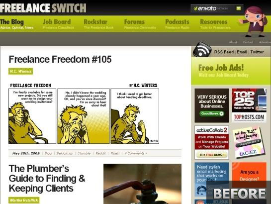 Freelanceswitch.com-snapshot-redesign-before