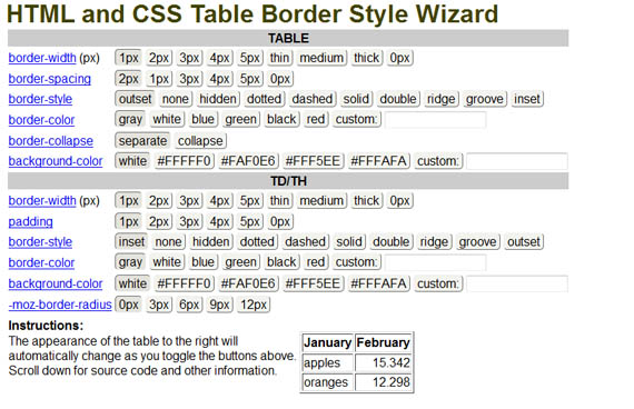 Table-wizard-useful-css-tools-generators