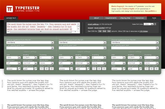 Typetester-useful-css-tools-generators