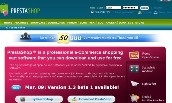 prestashop-e-commerce-softwares