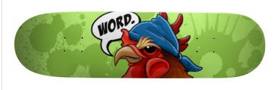 Rooster-creative-skateboard-designs