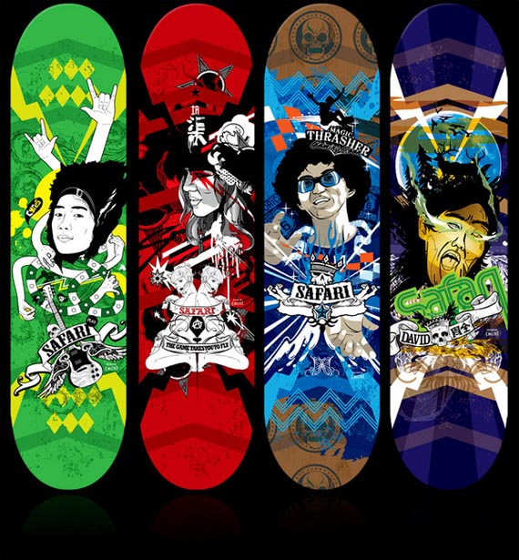 Safari-creative-skateboard-designs