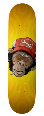 Truckin-chimp-creative-skateboard-designs