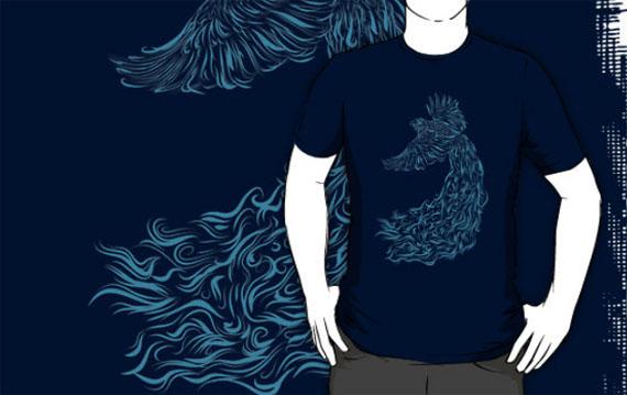 Bird-in-flight-cool-creative-tshirt-designs