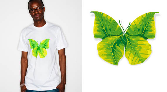 Butterfly-leaf-creative-tshirt-designs