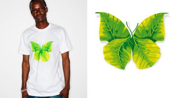 Butterfly-leaf-creative-tshirt-designs