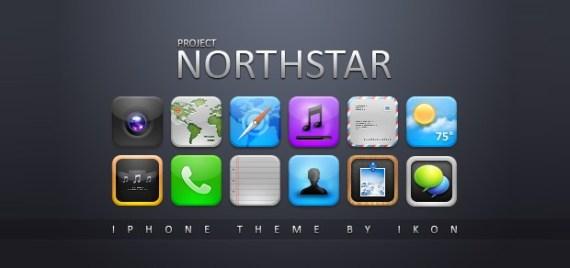 Иконки для iPhone Северная звезда