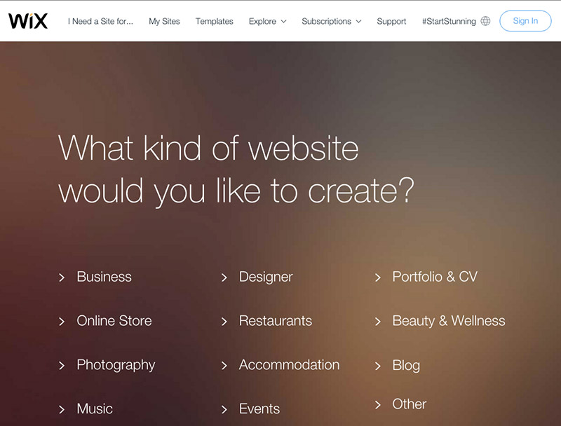 Wix is one of the easiest website builder tools