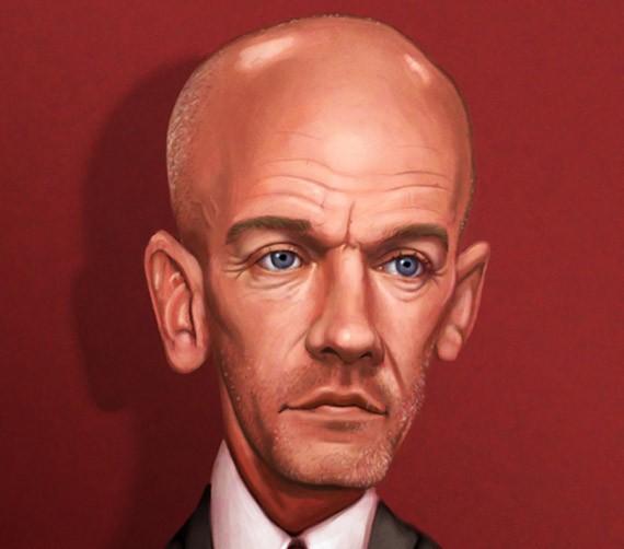 brad pitt caricature. Caricature of Brad Pitt by *