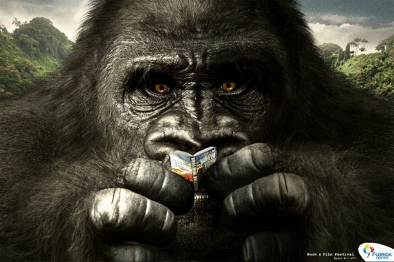 Florida-center-book-film-festival-gorilla-creative-unique-advertisements