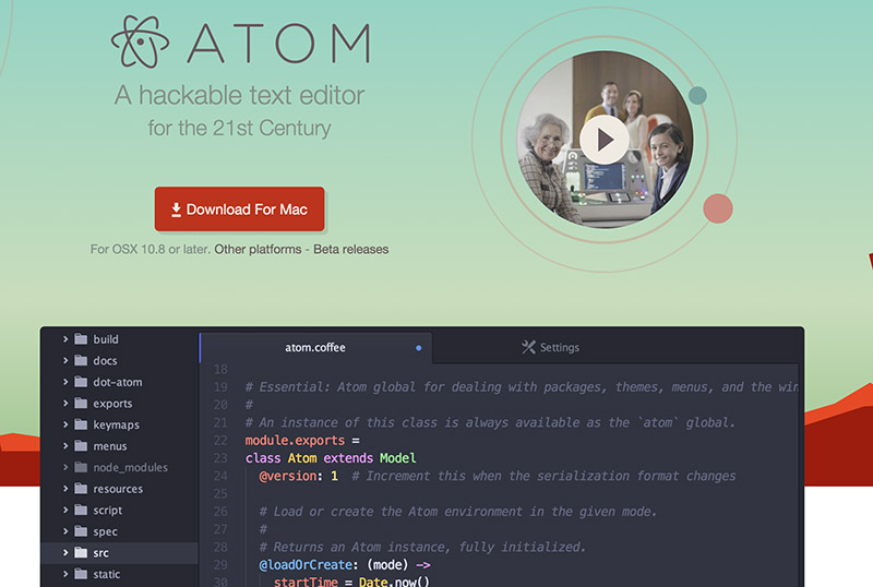 Atom is the best WYSIWYG html editor in 2016!