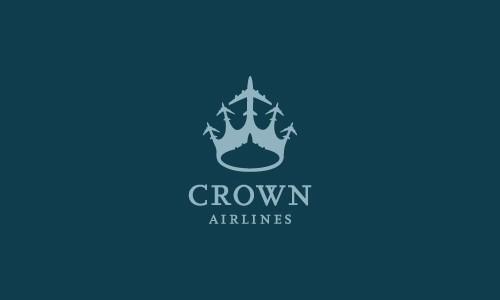 Логотип с короной из самолетов