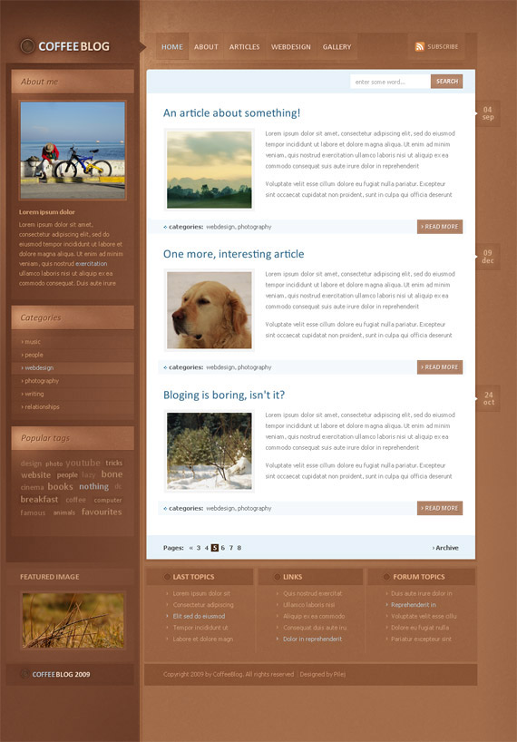 Coffee-theme-inspiration-wordpress-blog-designs
