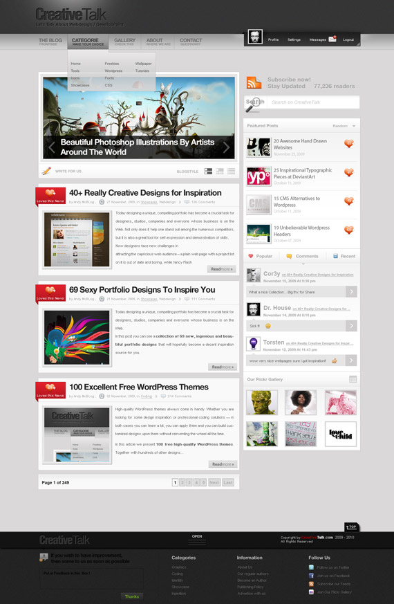 Creative-talk-inspiration-wordpress-blog-designs