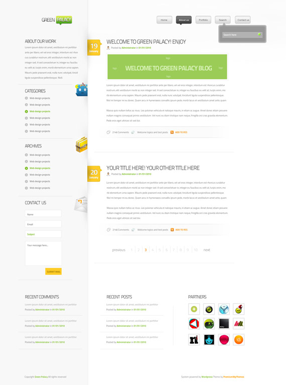 Green-palacy-theme-inspiration-wordpress-blog-designs