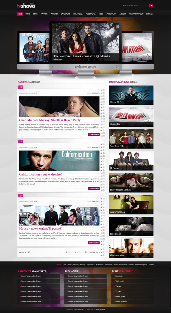 Tvshows-theme-inspiration-wordpress-blog-designs