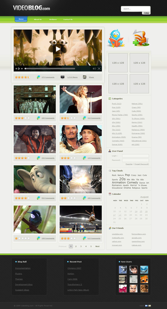 Videoblog-theme-1-inspiration-wordpress-blog-designs