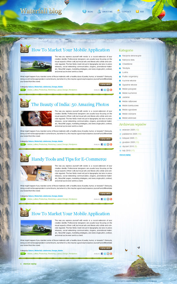 Waterfall-theme-inspiration-wordpress-blog-designs