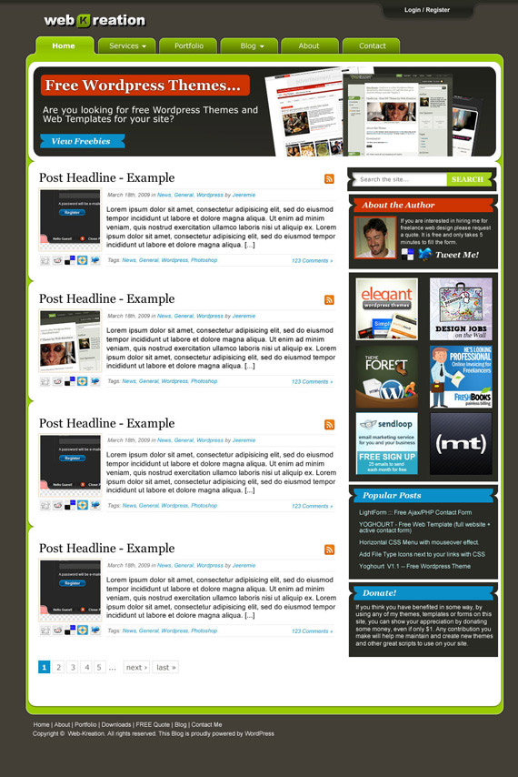 Web--1-kreation-theme-inspiration-wordpress-blog-designs