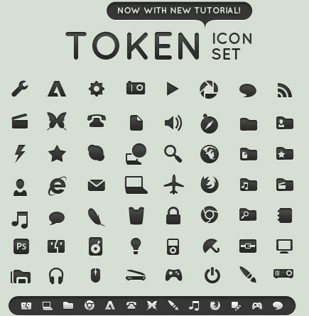 Token-icons-for-minimal-style-web-designs