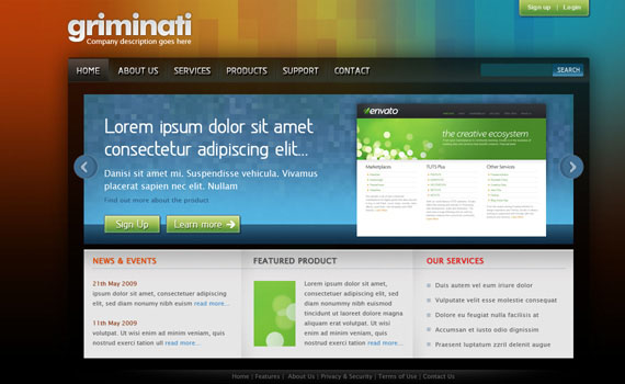 Clean-colorful-web-design-layout-tutorials-from-2010