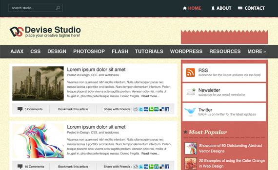 Clean-creative-wordpress-style-theme-in-photoshop-web-design-layout-tutorials-from-2010