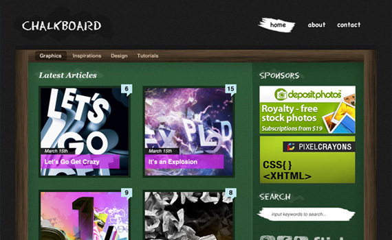 Create-chalkboard-style-wordpress-in-photoshop-web-design-layout-tutorials-from-2010